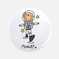 "Astronaut Moonwalk 3.5"" Button (100 pack)"