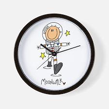 Astronaut Moonwalk Wall Clock