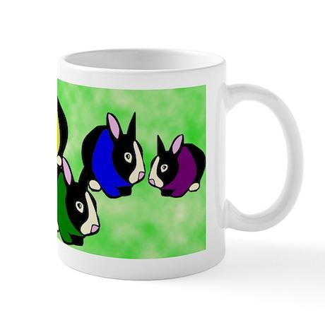 Rainbow Bunny Rabbits Mug