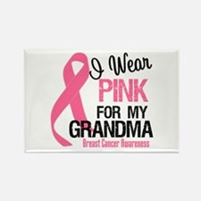 I Wear Pink For My Grandma Rectangle Magnet