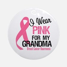 I Wear Pink For My Grandma Ornament (Round)