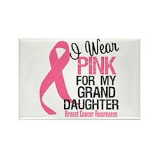 Pink Ribbon Granddaughter Rectangle Magnet