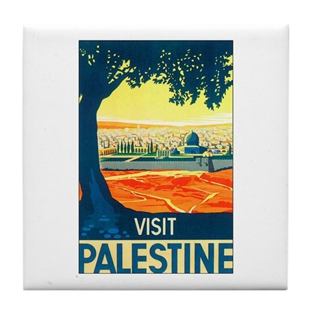 Palestine Travel Tile Coaster