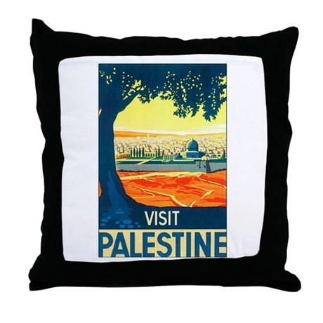 Palestine Travel Throw Pillow by w2arts