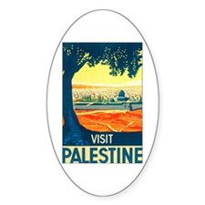 Palestine Travel Oval Decal