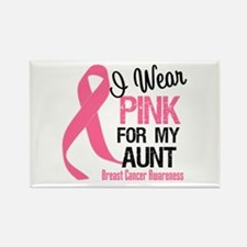 I Wear Pink For My Aunt Rectangle Magnet