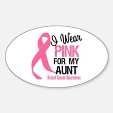 I Wear Pink For My Aunt Oval Sticker (10 pk)