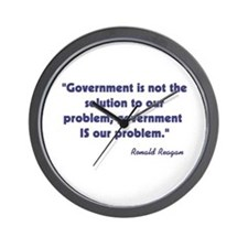 Government not the solution Wall Clock