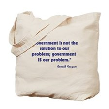 Government not the solution Tote Bag
