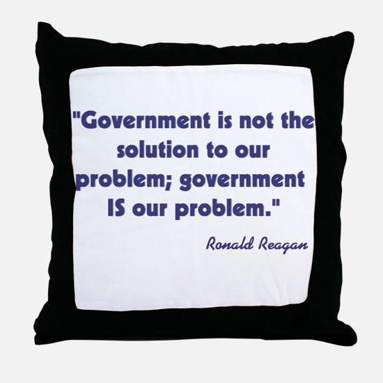 Government not the solution Throw Pillow