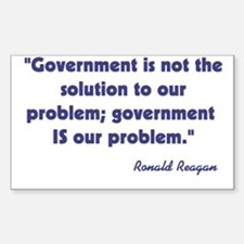Government not the solution Decal