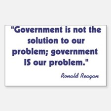 Government not the solution Sticker (Rectangle)