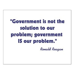 Government not the solution Posters
