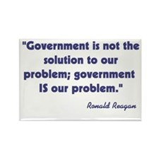 Government not the solution Rectangle Magnet (100
