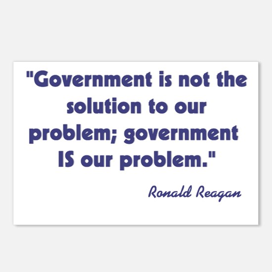 Government not the solution Postcards (Package of