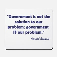 Government not the solution Mousepad