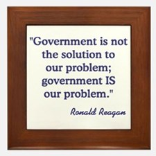 Government not the solution Framed Tile