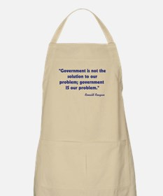 Government not the solution Apron