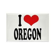 I Love Oregon Rectangle Magnet