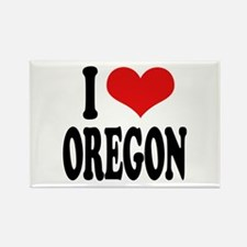 I Love Oregon Rectangle Magnet (100 pack)