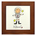Astronaut Framed Tile
