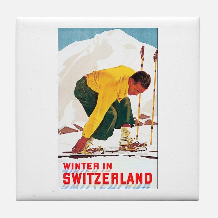 Switzerland Travel Tile Coaster