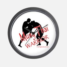 Muay Thai Warrior Wall Clock