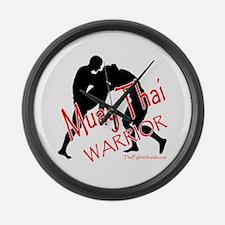 Muay Thai Warrior Large Wall Clock