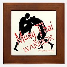 Muay Thai Warrior Framed Tile