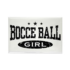 Bocce Ball Girl Rectangle Magnet