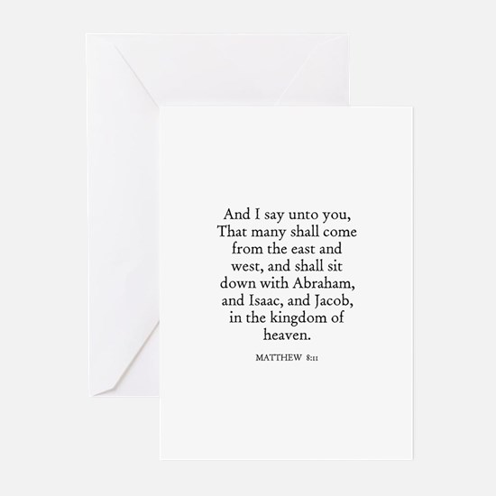 MATTHEW  8:11 Greeting Cards (Pk of 10)