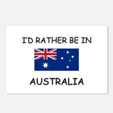 I'd rather be in Australia Postcards (Package of 8