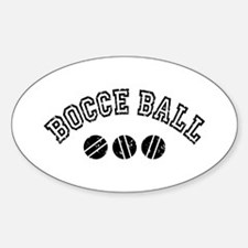Bocce Ball Oval Decal