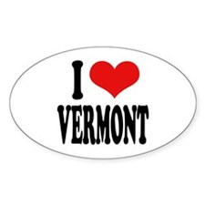 I Love Vermont Oval Decal