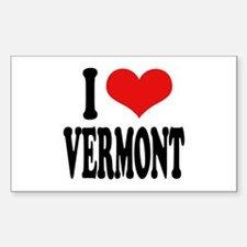 I Love Vermont Rectangle Decal