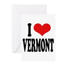 I Love Vermont Greeting Cards (Pk of 10)