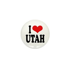 I Love Utah Mini Button (100 pack)