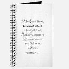 MATTHEW 8:10 Journal