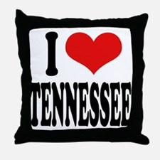 I Love Tennessee Throw Pillow