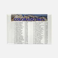 CO 14ers List T-Shirt NO BKGRND Magnets