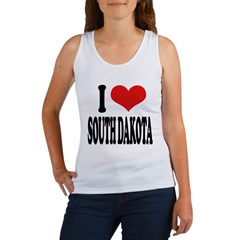 I Love South Dakota Women's Tank Top