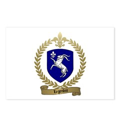 LEGENDRE Family Crest Postcards (Package of 8)
