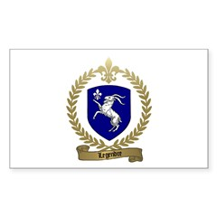 LEGENDRE Family Crest Rectangle Decal
