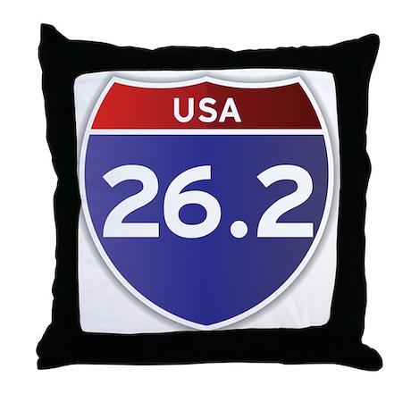 USA 26.2 Throw Pillow