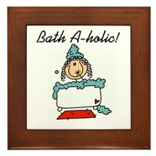 Bath-a-holic Framed Tile