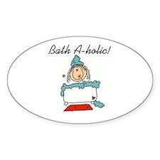 Bath-a-holic Oval Decal