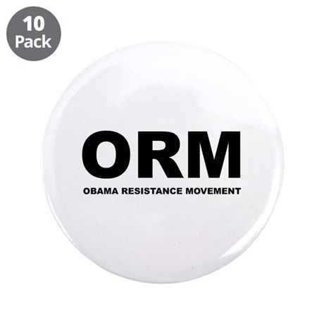 "Obama Resistance Movement 3.5"" Button (10 pack)"