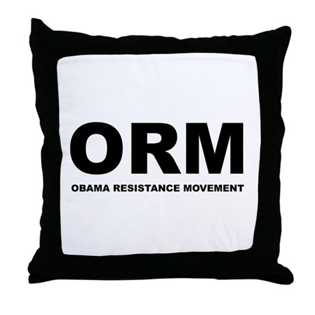 Obama Resistance Movement Throw Pillow