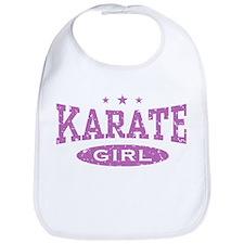 Karate Girl Bib