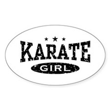 Karate Girl Oval Decal